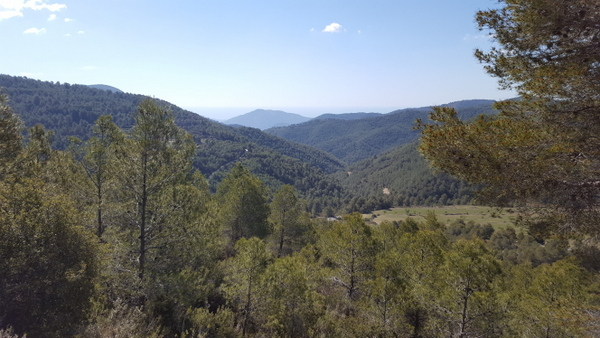 View towards the Mediterranean from the CV-770 near Sella, Costa Blanca