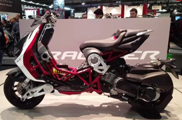 Italjet Dragster at the 2020 EICMA motorcycle show.