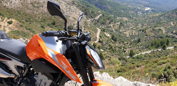KTM 790 Duke near Tarbena, Costa Blanca, Spain