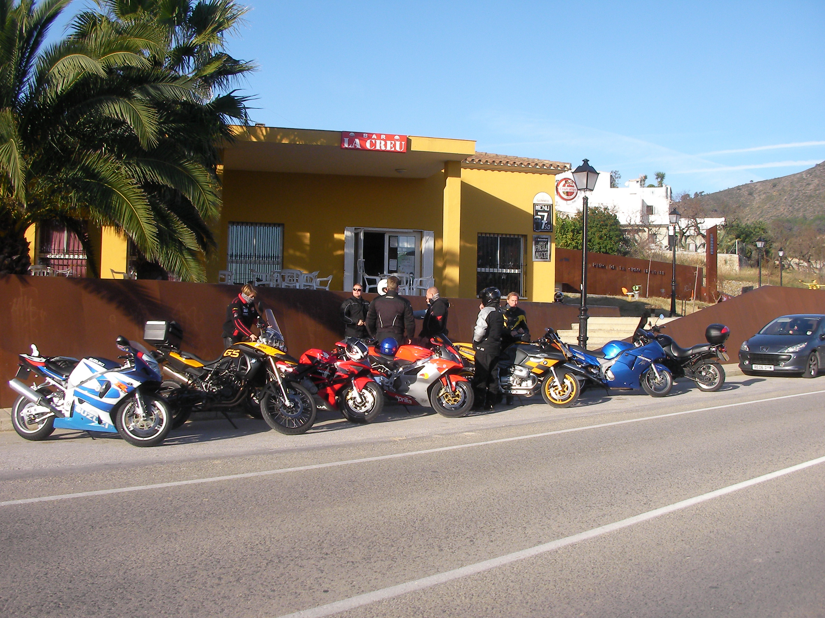 Bikers gathering for a ride.